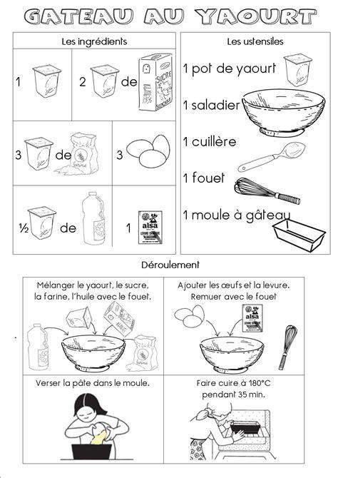 recette de cuisine gateau au yaourt fiche recette du gâteau au yaourt maternelle dans ma roulotte