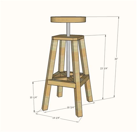 ana white industrial adjustable height bolt bar stool