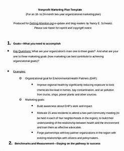 marketing plan template 20 free word excel pdf ppt With nonprofit communications plan template