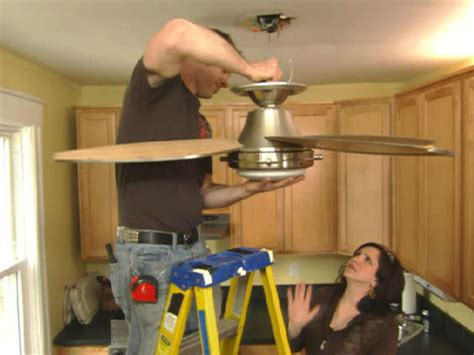 replace  ceiling fan  kitchen hgtv