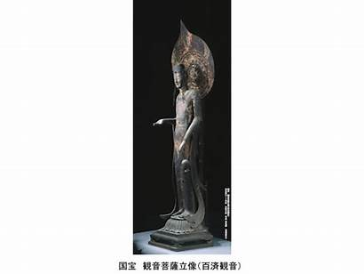 Passing Murals Buddhist Horyuji Sculptures Cultural Heritage