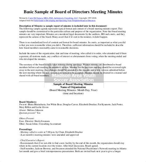Corporate Board Meeting Minutes Template by 22 Minutes Templates Word Excel Pdf Free Premium