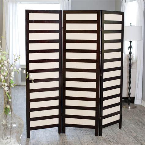 Kavari Canvas 3 Panel Room Divider  Rosewood Room