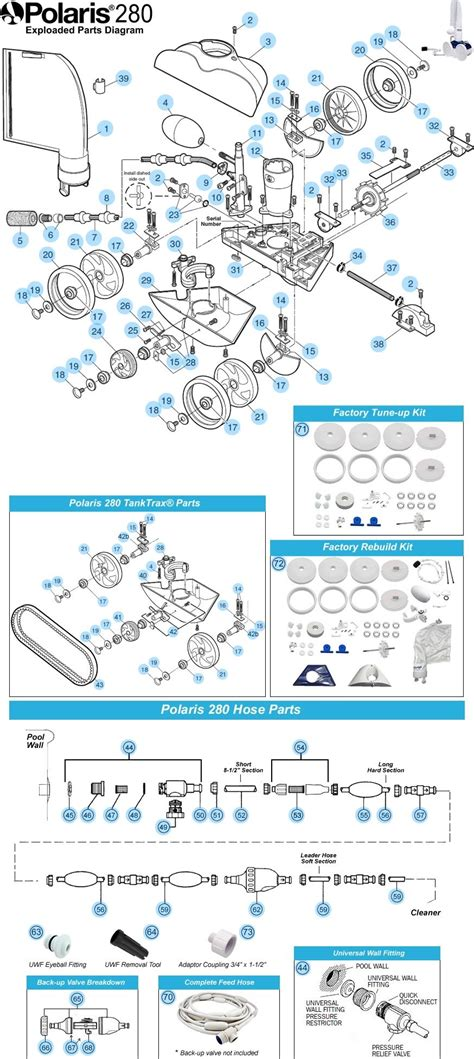 polaris pool cleaner  parts  stock polaris