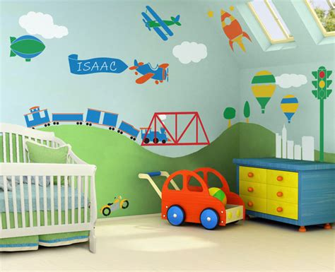 Stencil Wall Murals For Easy Children's Room Decor