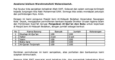 Jul 29, 2017 · 29 juli 2017 21:36 diperbarui: Contoh Surat Permohonan Bantuan Al Quran - Download Kumpulan Gambar