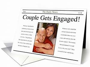 Engagement announcement newspaper style card 865197 for Wedding announcement ideas for newspaper
