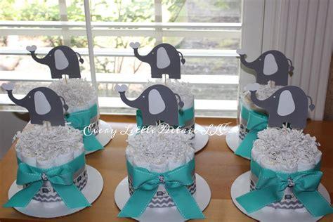 elephant mini diaper cake bundle blue gray elephant