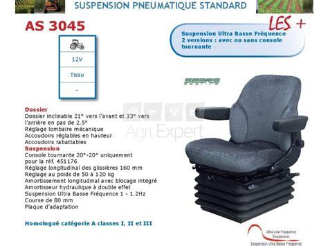 siege tracteur renault siège as3045 pour tracteur renault sur agri expert fr