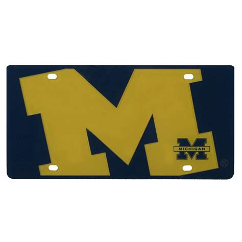 michigan wolverines colors michigan wolverines color mega inlay license plate