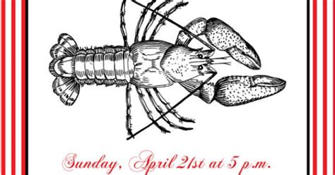 Crawfish Boil Invitation With Free Response/details Card