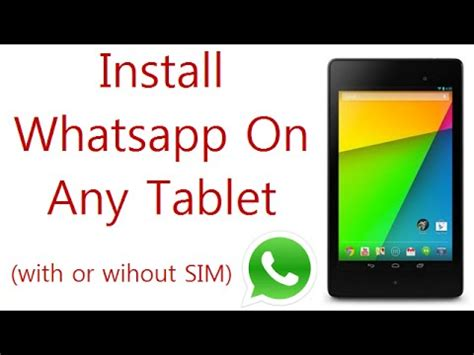 whatsapp for rca tablet