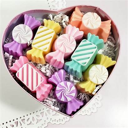 Valentine Soaps Candy Pastel Soap Handmade Box