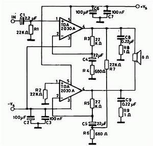 audio amplifier circuit page 26 audio circuits nextgr With tda2030 diagram