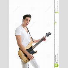 Musician Young Man Playing Electric Guitar Stock Image  Image 10533101