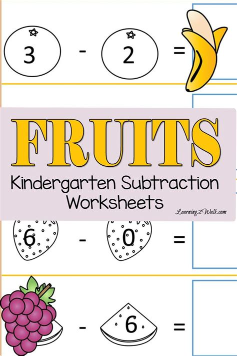 fruits cut and paste kindergarten subtraction worksheets 507 | 5577d1c8ea699a0ac9bfd2f8b62da61d