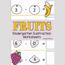 Fruits Cut And Paste Kindergarten Subtraction Worksheets  Cut And Paste, Tes And Worksheets