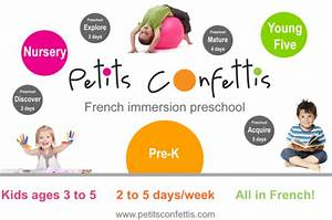 Petits Confettis French Immersion Preschool Schedule