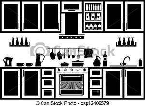 Vectors Illustration Of Icon Of Kitchen Image Kitchen In
