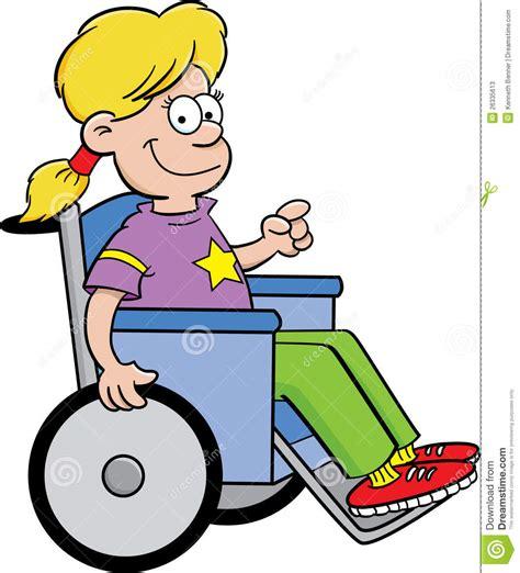 fille dans un fauteuil roulant photos stock image 26335613