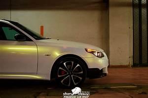 Alb Auto : bmw e60 colantare alb perlat gold dcm design ~ Gottalentnigeria.com Avis de Voitures