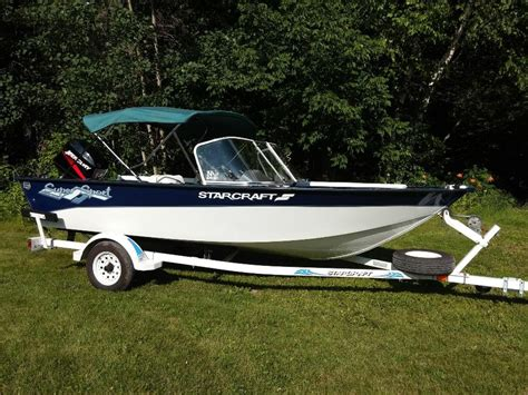 Starcraft Boats For Sale Bc by Like New 16ft Aluminum Starcraft Boat 2003 40hp Mercury