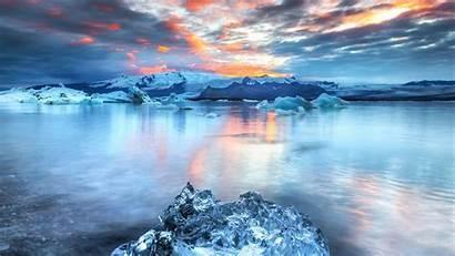 Ice Iceberg Lake Floe Widescreen