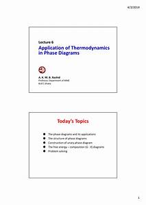 Application Of Thermodynamics In Phase Diagrams Today U0026 39 S Topics