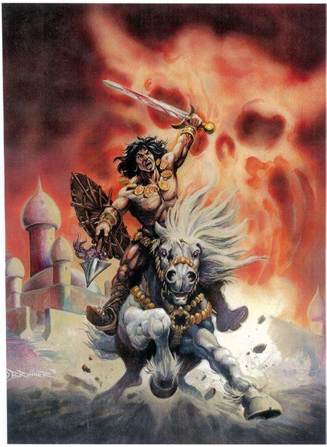 frank brunner savage sword  conan  cover comic art
