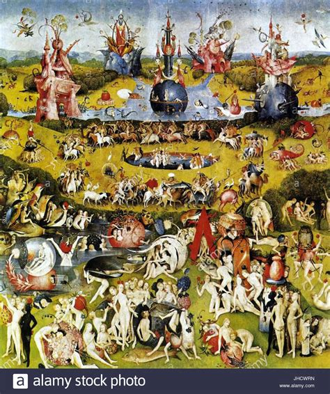 Bosch Der Garten by The Garden Of Earthly Delights Stockfotos The Garden Of