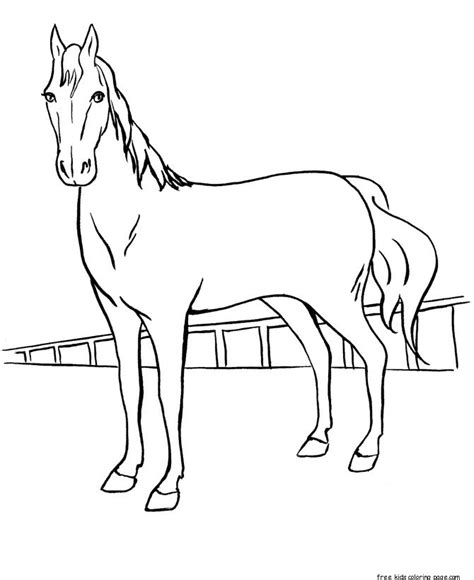 print  coloring pages race horses  kids