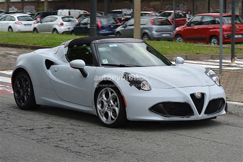Alfa Romeo 4c Spider Spied In Production Form. Will Debut