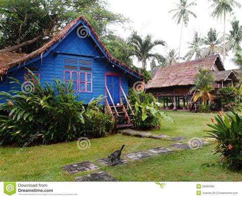 Traditional Antique Village Houses, Malaysia Royalty Free