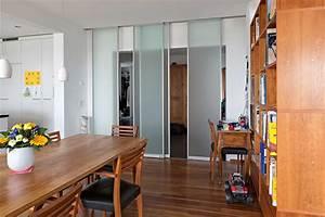 Schiebetüren Aus Glas : raumteiler aus vier schiebet ren in glas zwischen flur und wohnbereich auf zu ~ Sanjose-hotels-ca.com Haus und Dekorationen