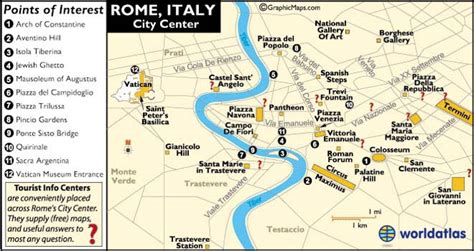 Rome Italy Map and Map of Rome Information Page
