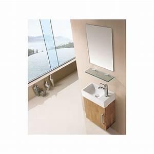 meuble salle de bain sd960bn coloris bois naturel With meuble salle de bain online