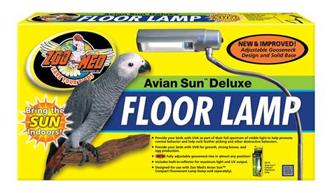 avian sun deluxe floor l stand parrot lighting uva lighting ideas