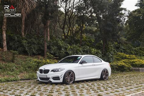 Alpine White Bmw 2 Series Coupe On Pur Wheels
