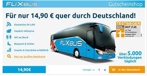 FlixbusGutschein Ticket für 14,90