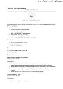 volunteer resume sles free resumes tips
