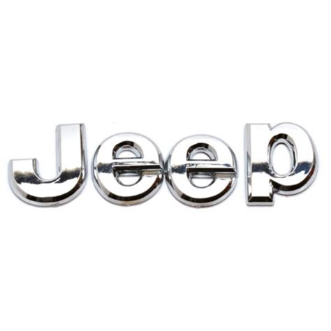jeep front logo jeep cherokee wrangler liberty compass chrome decal emblem