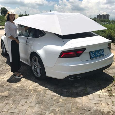 Car Portable by Outdoor Waterproof Folded Portable Car Canopy Cover Half