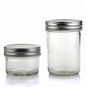 custom glass mason jar with metal lid wholesale buy With custom jar lids