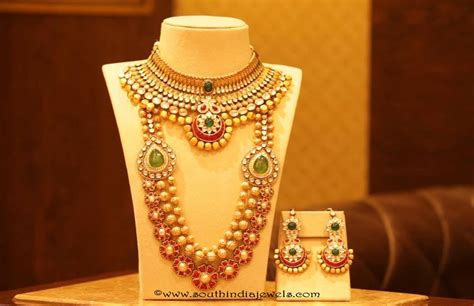 Gold Bridal Jewellery Sets From Manubhai Jewellers Homemade Jewelry Cleaner Platinum Best Pawn Shop Nyc Stores Online Cheap Dfw Treasure Blue San Jose On Maui Albany Ny