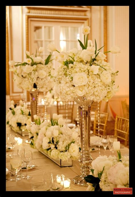 white and gold centerpieces white and gold white and gold flower centerpiece