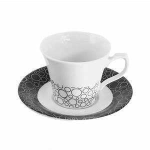 Service Tasse à Café : tasse caf 100 ml avec soucoupe black or white en ~ Teatrodelosmanantiales.com Idées de Décoration