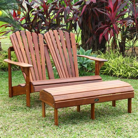 Hyre's Country Haven Teak Double Back Adirondack Bench