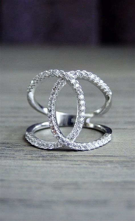 Trending Overlapping Loop Diamond Ring, Sterling Silver. Point Diamond Engagement Rings. Batu Wedding Rings. Attached Gold Rings. Promise Ring Engagement Rings. Wedding Gown Rings. Oval Shape Engagement Rings. Goth Wedding Engagement Rings. Gold Wedding Engagement Rings