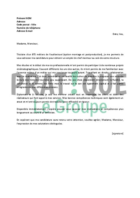 lettre de motivation chef de partie