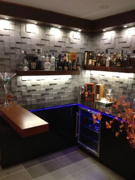 Bar In Living Room Designs by Cool Design For Small Bar Contemporary Living Room